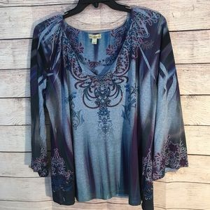 Live and Let Live Blouse ( Size 2X